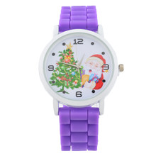FUNIQUE 2018 New Christmas Elderly Tree Watches Women Silicone Strap Ladies Watch Sport Clock Quartz Wristwatch Christmas Gift(China)