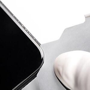 5 шт. QIANLI 3D демонтаж ультратонкий стальной лист ЖК-экран Pry Slice Shave черный клей металлическая карта для IPHONE HUAWEI Android