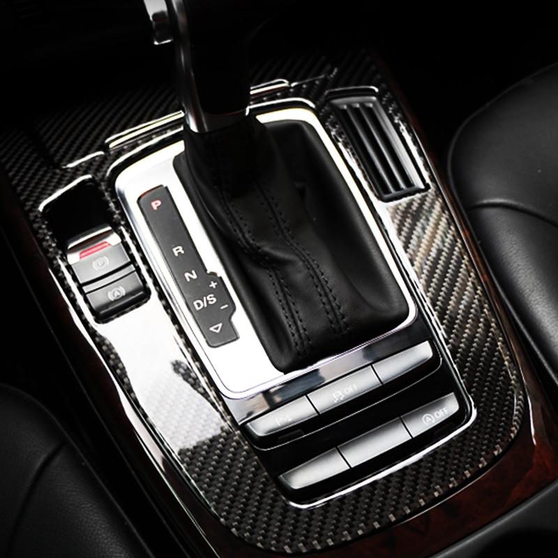 Pour Audi A4 B9 A5 Q5 fibre de carbone Console centrale changement de vitesse couverture autocollants décoratifs garnitures intérieures style