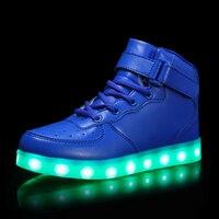 Sıcak Satış Çocuklar Sneakers çocuk Melek Kanatları USB Şarj Aydınlık çocuklar Rahat Düz Kız Boy Için LED Işıkları Ayakkabı spor ayakkabı