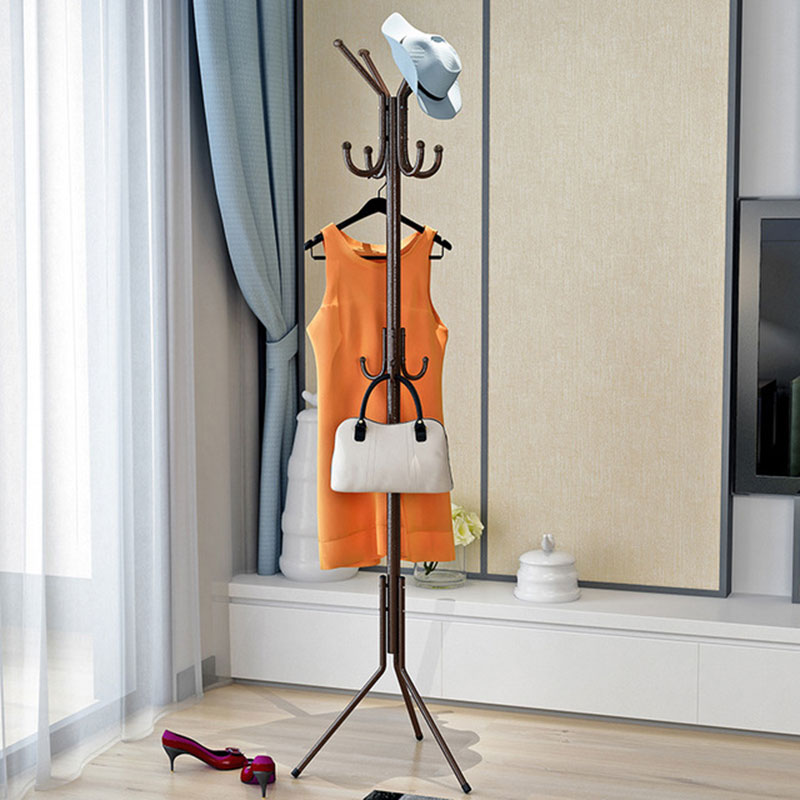 11 Hooks Anti-rust Metal Coat Rack Thicken 32 MM Tube Stable Triangle Support Living Room Clothing Rack Bedroom Furniture11 Hooks Anti-rust Metal Coat Rack Thicken 32 MM Tube Stable Triangle Support Living Room Clothing Rack Bedroom Furniture