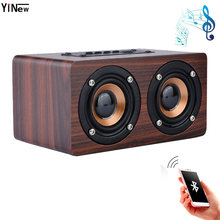 891dde5f3f6 Wooden Wireless Bluetooth Speaker Portable TV Sound bar HiFi Shock Bass  Altavoz TF caixa de som MINI Soundbar for iPhone Xiaomi