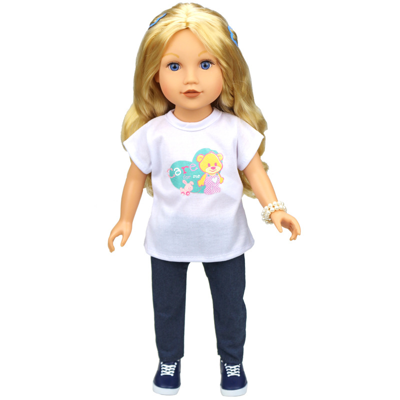 Hot sale 18 inch American Girl doll pretty casual white ...