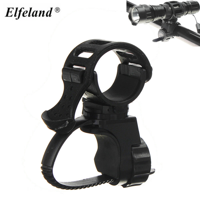 High Quality 360 Swivel Bicycle Cycle Bike Front Torch Mount LED Head Light Holder Rubber Clip For 20-45mm Diameter Flashlight