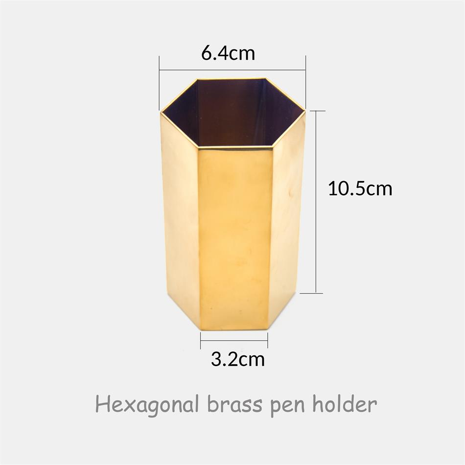 Image 3 - Guoyi S032 creative cylindrical brass glass office storage pen holder storage box and hotel room business jewelry gift boxStationery Holder   -
