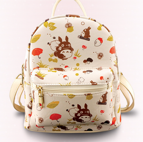 Anime My Neighbor Totoro Backpacks Shoulder Bag Cool Children PU Casual School Bag Bookbag For Teenage Girls 26*23*13cm anime my neighbor totoro printing