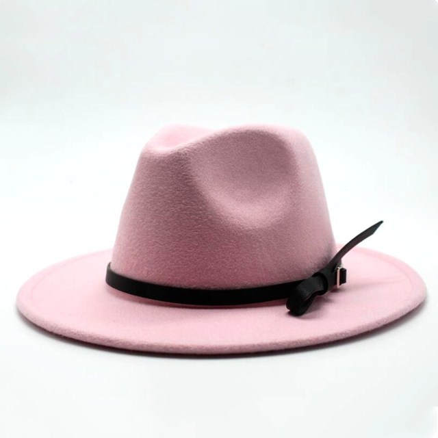 Wool Jazz Hat - Large Brim Fedora 4