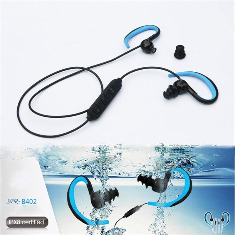 IPX8 Waterproof Bluetooth Swimming Earphone Portable Outdoor Sport Stereo HD Music Headset Bluetooth 4.2 EDR Neckband Earphones
