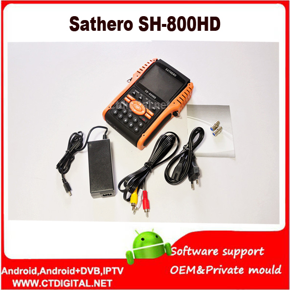 Sathero SH-800HD USB2.0 DVB - S / S2 HD Spectrum analyzer Digital Satellite Finder Sathero SH -800 Meter Digital 800 HD in stock factory latest version dm 800hd se s sim2 10 wifi sunray 800se 800hd se dvb s2 satellite receiver linux