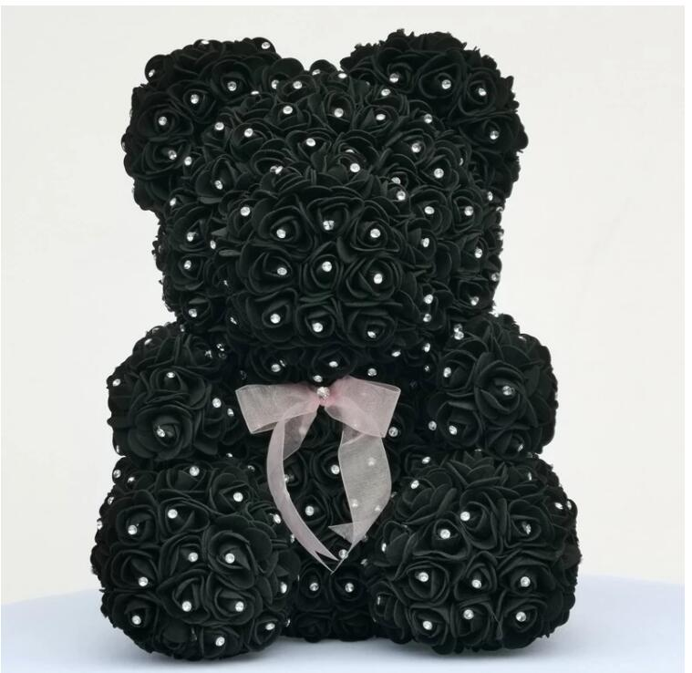 Image 2 - 2020 Diamond rose bear with heart artificial roses foam roses flower Diamonds  bear rose Valentine's Day gifts Mother's Day-in Artificial & Dried Flowers from Home & Garden