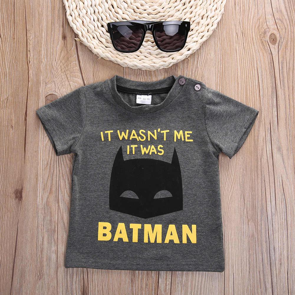 2016 חולצות שרוול קצר כותנה חולצה לא ילדים באטמן עבור בני בני הדפסת קריקטורה ילדי אופנה טי צמרות חולצת טי בני בגדים