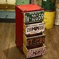 Retro americano para fazer o velho varanda quarto quatro balde de armazenamento gaveta do armário armários vento industrial ferro bar de madeira decorado c