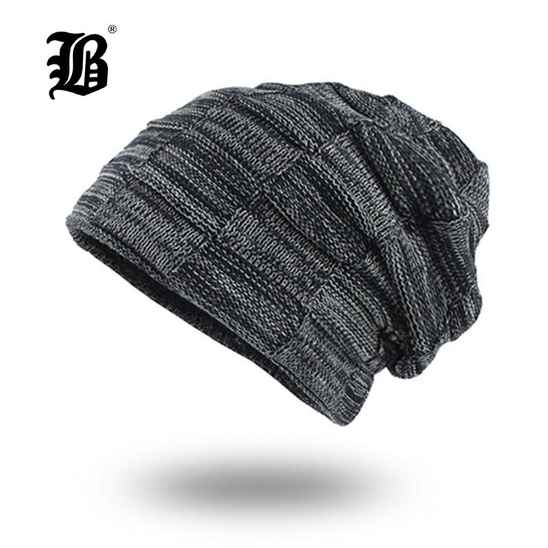 [FLB] Knitted Hat Men Skullies Beanies Winter Hats For Men Women Bonnet Caps Gorros Male Warm Solid Winter Beanie Hat F18030