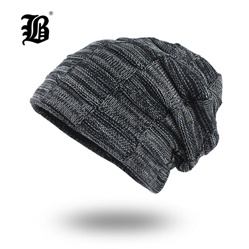 [FLB] Knitted Hat Men   Skullies     Beanies   Winter Hats For Men Women Bonnet Caps Gorros Male Warm Solid Winter   Beanie   Hat F18030