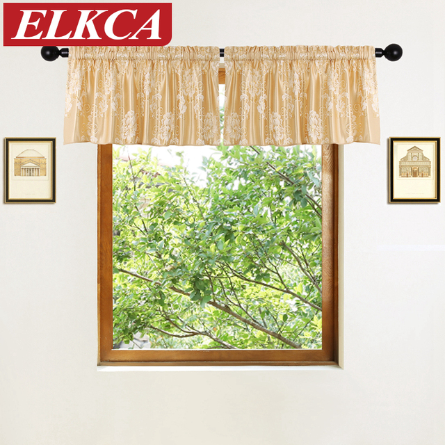2 Pieces Short Curtains Valance For Living Room Luxury Window Curtains For  Kitchen Short Valances For