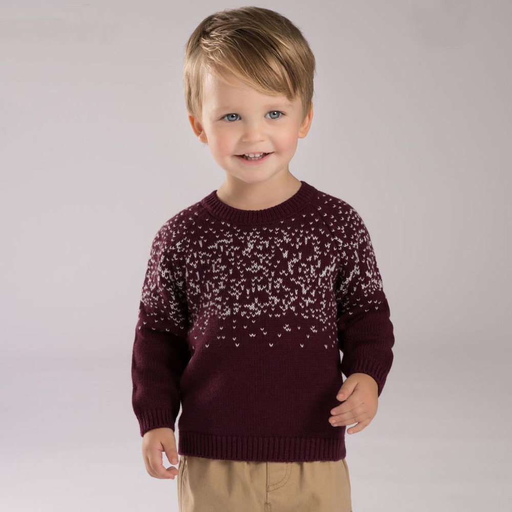 brand 90cotton 10wool children kids baby boy christmas sweater pullover burgundy dobby toddler boys winter kintted sweaters in sweaters from mother kids