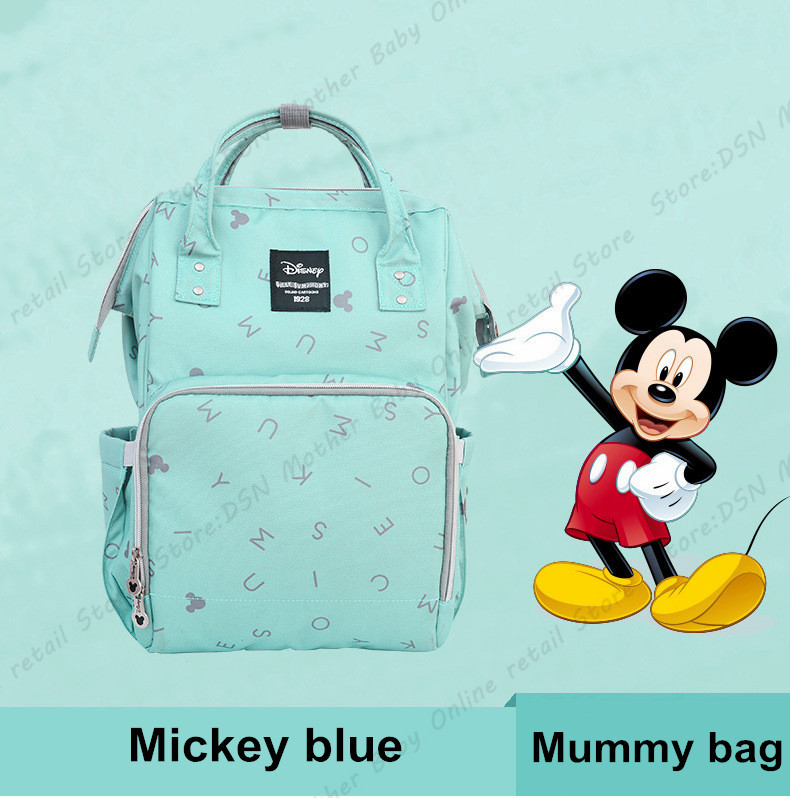 Disney Blue Mickey Pink Minnie Baby Diaper Bags Bolso Maternal Stroller Bag Large Capacity Nappy Backpack Maternity Mommy Bag