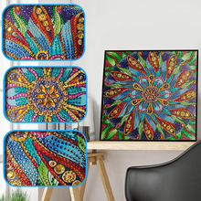 New Special Shape Diamond Painting Phantom Flower Combination Modern Pattern DIY 5D Part Drill Cross Stitch Kit Crystal Art
