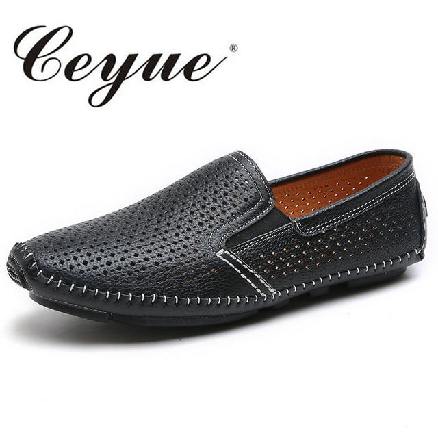 Chaussures En Cuir Hommes Véritable Casual Slip-On Conduite Trois Couleurs Cuir Souple Mocassins Respirant Chaussures Hommes znAUrNbj