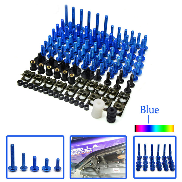 Motorcycle Scooters Fairing Body Work Bolts Nuts Spire Speed Fastener Clips Screw for yamaha YZF-R125 WGP YZR-R1 YZF-R1S YZF-R25 new universal brand cnc motorcycle accessories fairing body work bolts screws for yamaha yzr r1 yzf r6 wgp vmax yfm90r