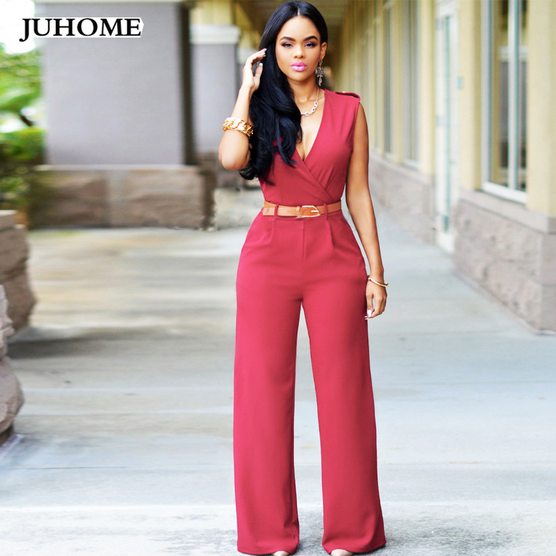 2017 Casual Summer jumpsuit women rompers Female clothing sexy One Piece wide leg Long Trousers Party