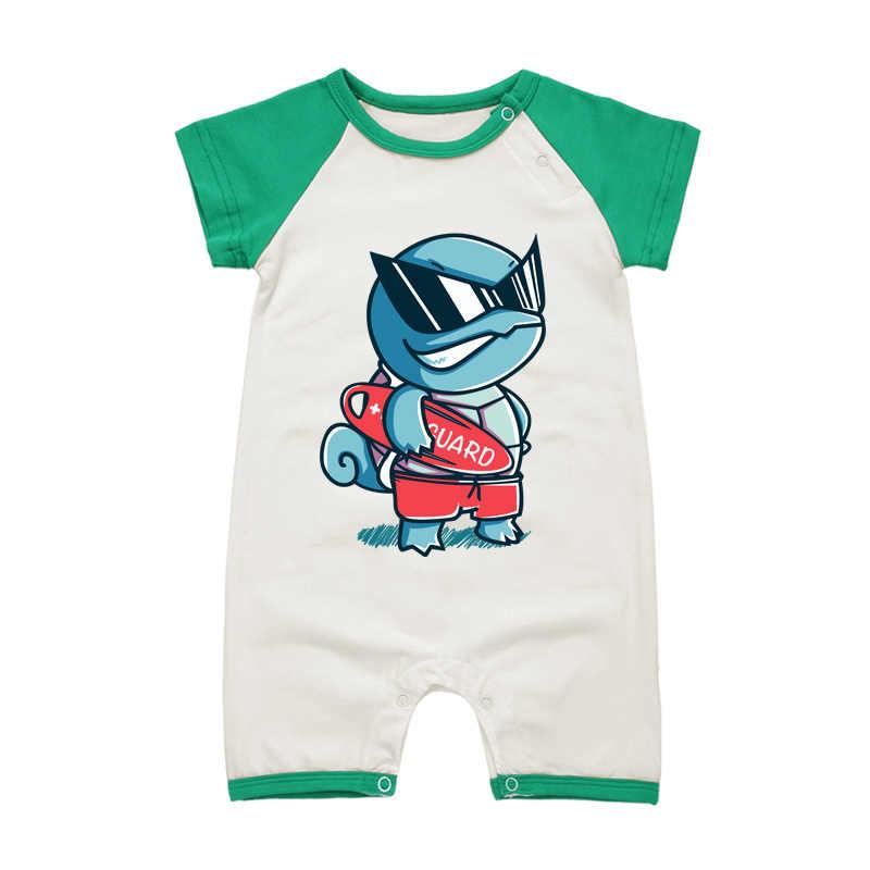 Комбинезон для маленьких мальчиков, комбинезоны для девочек, брендовая одежда для младенцев, хлопоковый для новорожденных малышей с героями мультфильмов, летние комбинезоны с короткими рукавами
