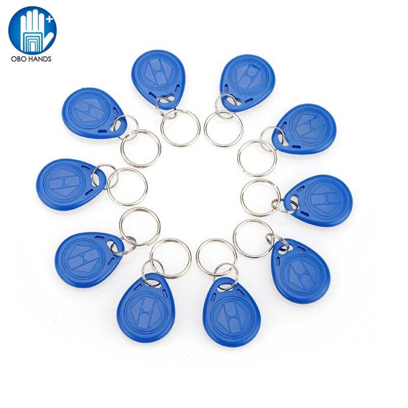 (10/50/100pcs) 125KHz EM4305 T5577 RFID Keyfobs Tags Token Duplicator Copy Proximity Rewritable Writable Copiable Clone ABS Blue