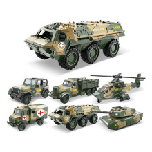 1pcs Military Model Car Toy Off-road Vehicle Truck Van Tank Medical Helicopter Construction