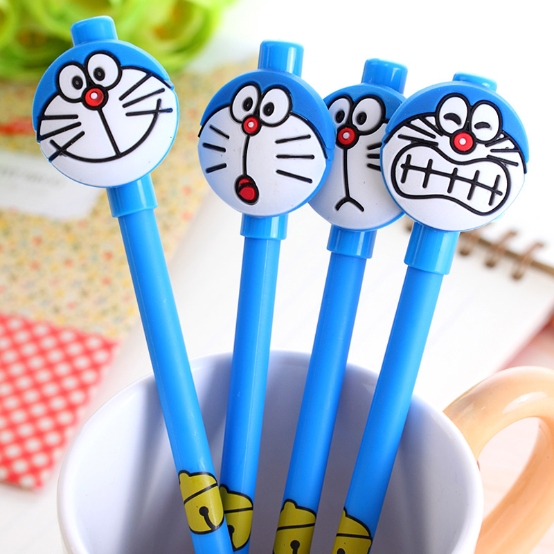 4 pcs/lot cartoon Doraemon gel pen writing pens stationery canetas material escolar office school supplies papelaria ...