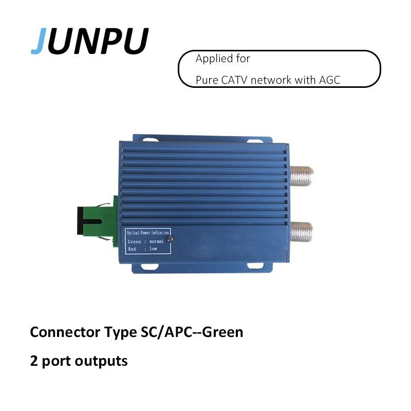imágenes para JUNPU salida de 2 puertos SC/APC Fibra DC8V CATV Receptor Óptico con AGC función utilizado para TELEVISIÓN POR CABLE de red