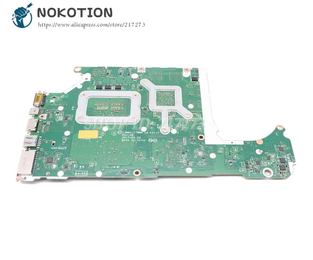 NOKOTION Brand NEW For Acer A715-71G Laptop Motherboard GTX 1050 GPU SR32Q  I7-7700HQ CPU DDR4 C5MMH C7MMH LA-E911P MAIN BOARD