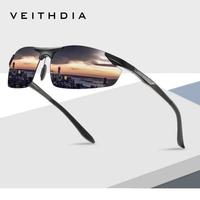 47a63e7f86347 VEITHDIA Brand Aluminum Polarized Sunglasses Men Sun Glasses Driving Glasses  Mirror Goggle Eyewear Male Accessories shades 6529