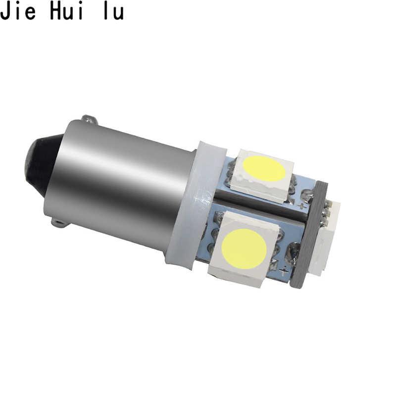 Mobil Marker Lampu Ba9s T4w 5050 SMD 5 LED Menara 96 Lumen Auto Baji Lampu Penanda Lampu LED DC12V Putih es Biru Kuning Merah 1Pcs