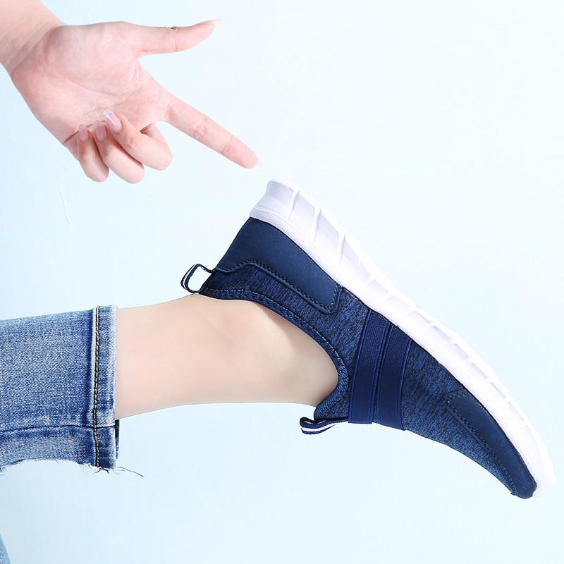 Image 5 - STQ 2020 Summer Women Sneakers Shoes Women Breathable Mesh Shoes Ballet Flats Ladies Slip On Flats Loafers Shoes Plus Size 7696Womens Flats   -
