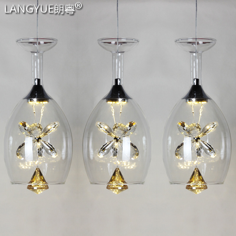 Creative personality led glass crystal chandelier pendant lamp bar restaurant dining room three head single head lamps zss32 creative personality electroplating apple glass lamps and lanterns of restaurant contemporary single head bar led lamps
