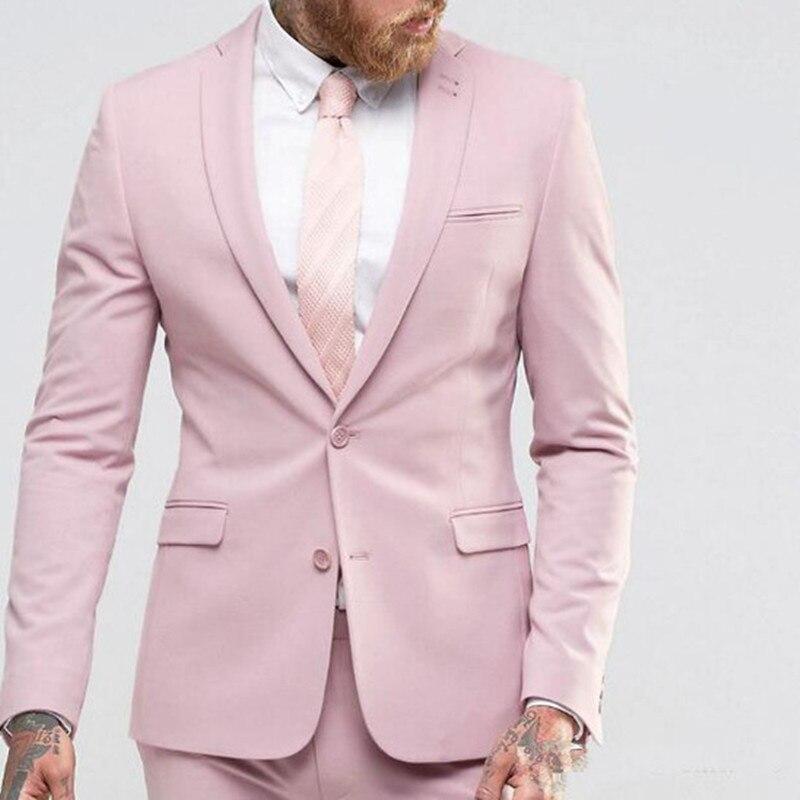 Новое поступление, светло розовый мужской костюм, тонкие вечерние платья, мужские смокинги для пляжа, свадьбы, деловой костюм для молодых му