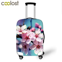3D Print Flower Luggage Cover Dust-proof Travel Bag Cover 18-30 Inch Pink Suitcase Protective Covers Portable Travel Accessories