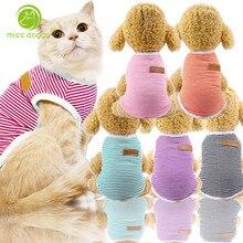 XS-XXL жилет для домашних собак полосатая рубашка-свитер весенне-летняя рубашка для собак Одежда для собак и кошек одежда для щенков 10E