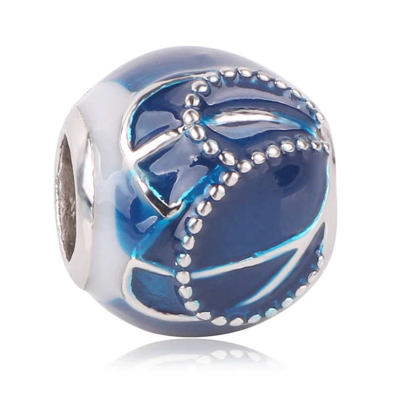 925 silver Blue style star Christmas snowman snowflake bead Fit Original Pandora Bead Bracelet For Women Charm DIY Jewelry Gift in Beads from Jewelry Accessories
