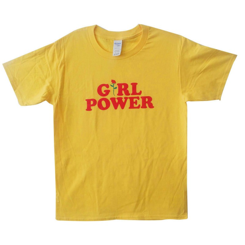 Women Summer Short Sleeve Feminist Shirt O-neck T-Shirt Tops