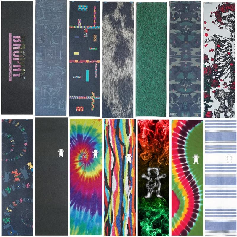 USA Brand Grizzly New Style Disruptive Pattern Bear Skate Griptape Hard-Wearing Skateboard Sandpaper For Street Skateboard Deck