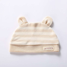 Newborn going out for windbreak, cute rabbit ears, striped cotton hat for 0-2 year old babies, children, boys and girls(China)