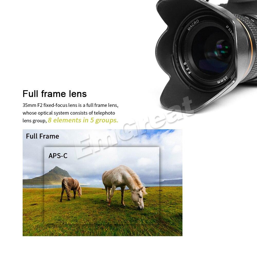 Comprar ahora Kelda 35mm F2.0 marco completo de foco fijo lente de ...