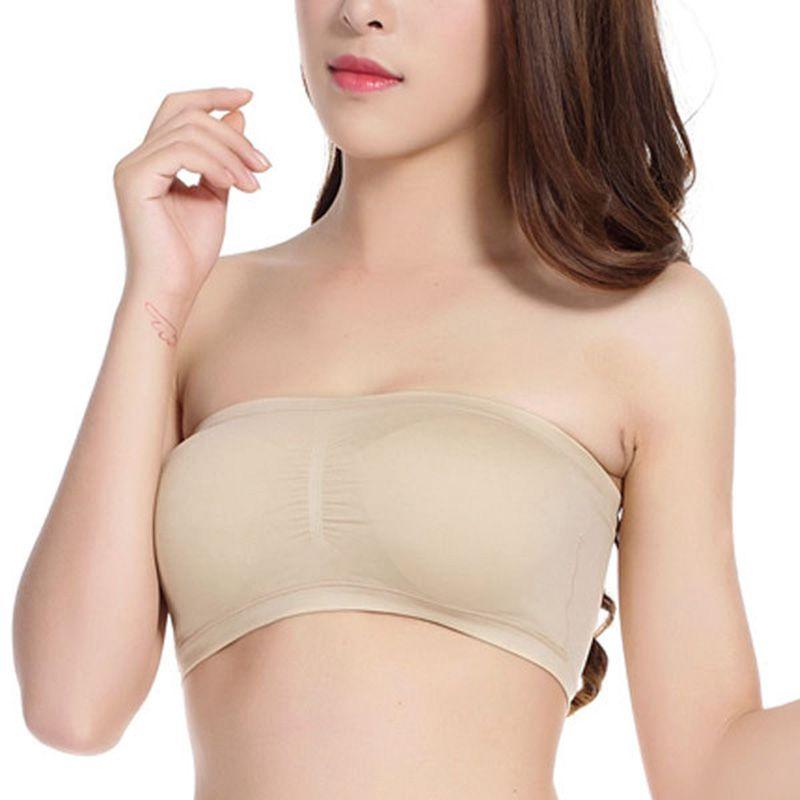 ecc9910e3a Aliexpress.com   Buy S XXL Fashion Women Bra Underwear Soft Strapless  Seamless Brassiere Padded Bralette Boob Tops Bra from Reliable bra f  suppliers on ...