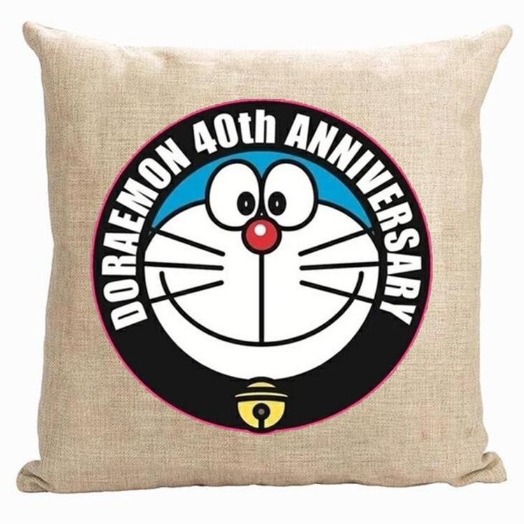 Doraemon pillow cover, cute Japanese creative cartoon Animation Doraemon throw pillow cover