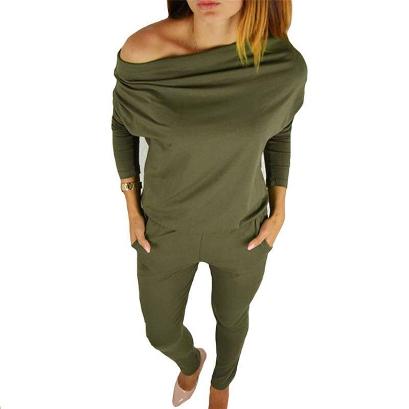 Herbst weibliche körper mit langen ärmeln overalls für frauen strampler overalls combinaison femme sexy bodys dame Grün playsuits