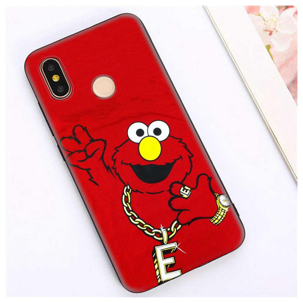 Lavaza Elmo Cookie Monster TPU cho Xiaomi Redmi Note 4 4X 4A 5 5A 6 6A 7 8 Pro đi Prime Plus