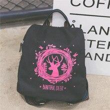 Рюкзак женские милые животные случайный Стиль рюкзак для девочек высокое качество Холст Школа Рюкзаки