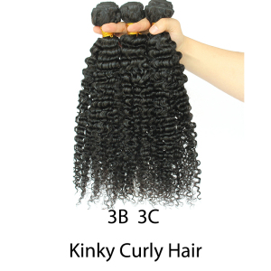 Image 2 - Brazilian Afro Kinky Curly Hair Weave 100% Natural Remy Human Hair Bundles Extension 3B 3C Dolago Hair Products