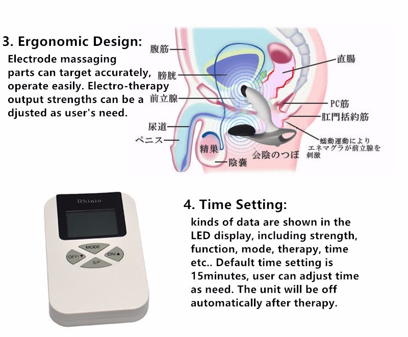 Pulse Magnetic Prostate Glands Massaging Therapy Device Prostate Massager Vibrating Treatment Machine Medical Silicone Materials (4)